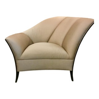 Caracole Deco Style Upholstered Chair For Sale