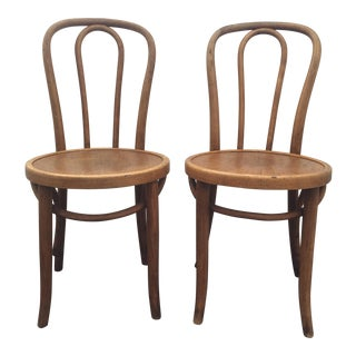 Antique Thonet No. 18 Bentwood Chairs - A Pair