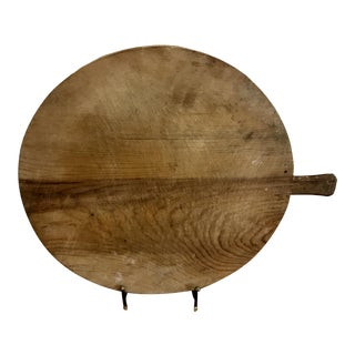 Round Antique Pine Cheese Board For Sale