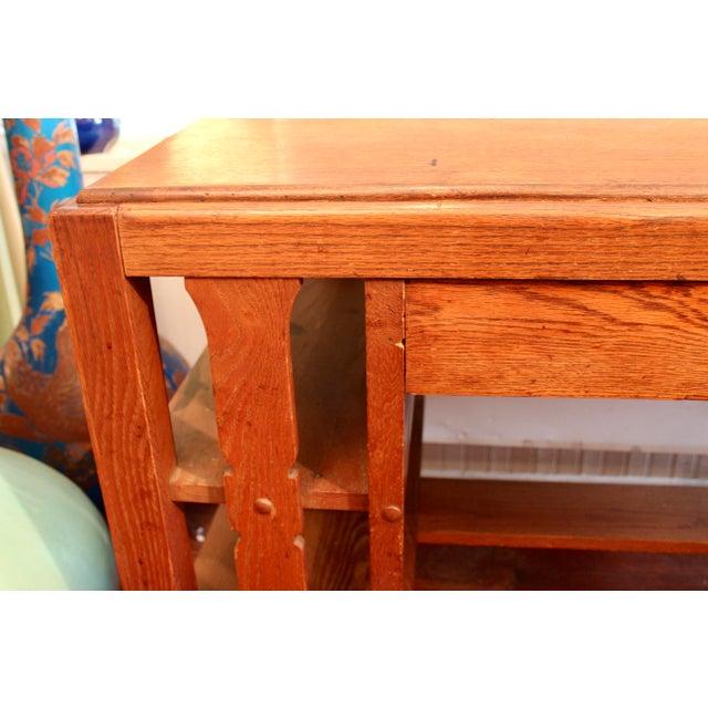 Gold 1920s Antique Stickley Desk Table Bookshelves Mission Oak Writing Desk For Sale - Image 8 of 13