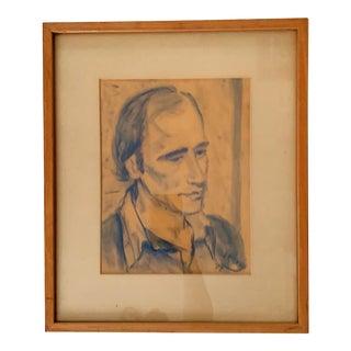 Charcoal Portrait For Sale