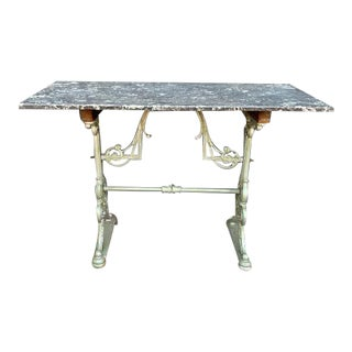 Antique Gray Marble Cafe/Pastry Table For Sale