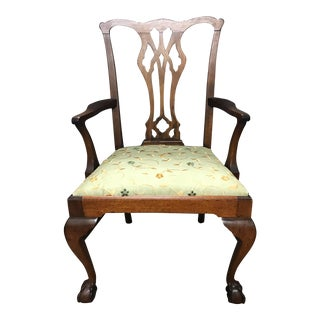 Mahogany Chippendale-Style Chair For Sale