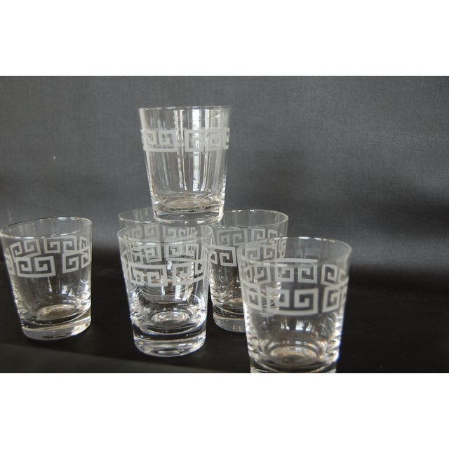 Mid Century Greek Key Cocktail Glasses - Set of 6 - Image 6 of 6
