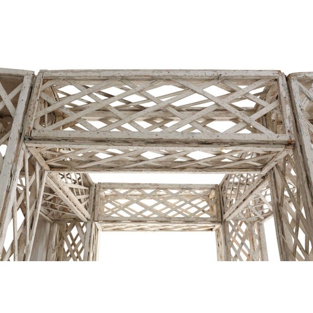 Vintage French Painted Trellis For Sale - Image 10 of 13