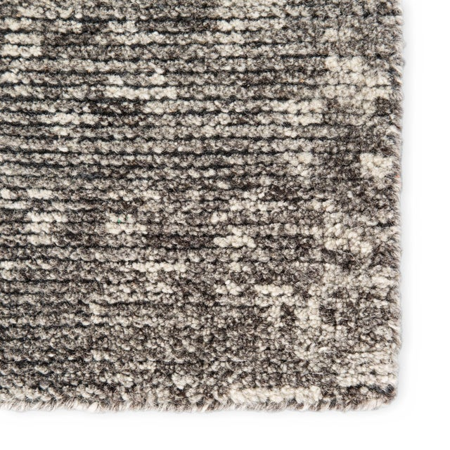 Contemporary Jaipur Living Zaid Hand-Knotted Geometric Dark Gray/ Ivory Area Rug - 2′ × 3′ For Sale - Image 3 of 6