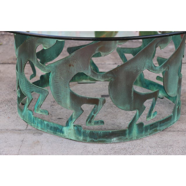 Vintage Beautiful Low Bronze Coffee Table For Sale - Image 9 of 12