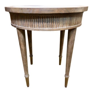 Rustic Fairfield End Provence Round Side Table For Sale