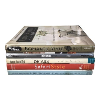 Interior Decor Style Books - Set of 5 For Sale