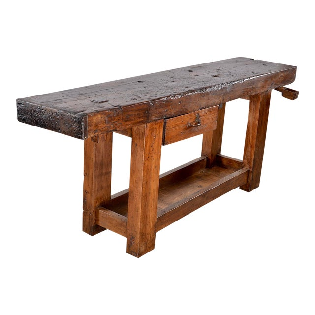 19th Century French Carpenters Workbench Table For Sale