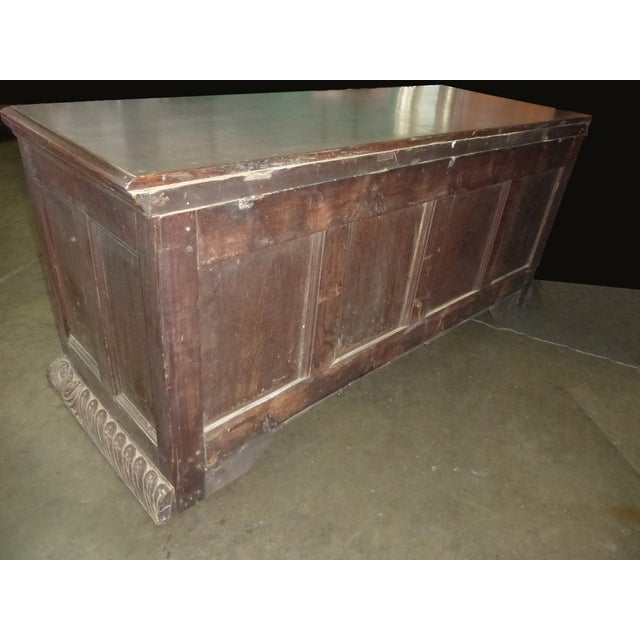 Antique European Detailed and Highly Carved Sideboard With Key - Image 5 of 10