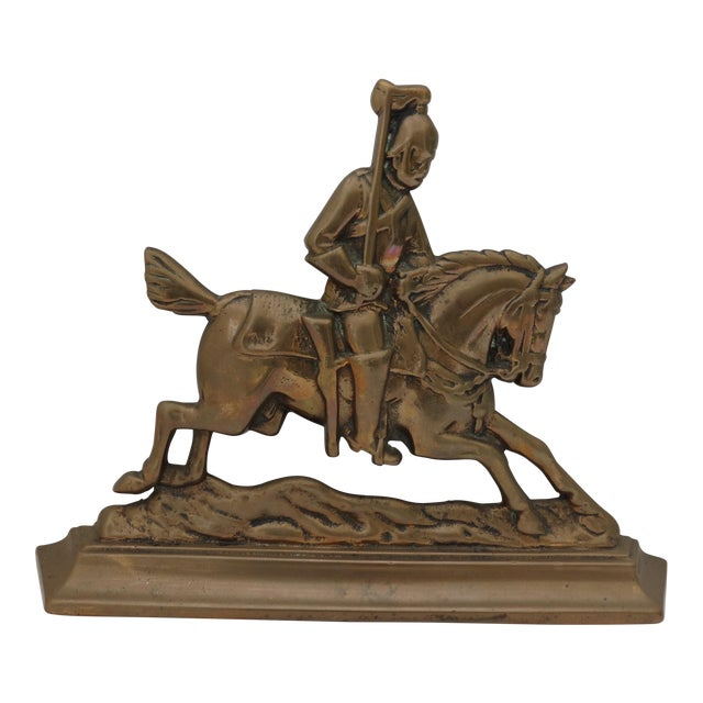 Brass Knight Fireplace Ornament For Sale