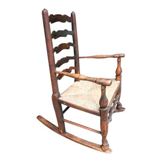 19th Century English Child's Rocking Chair For Sale