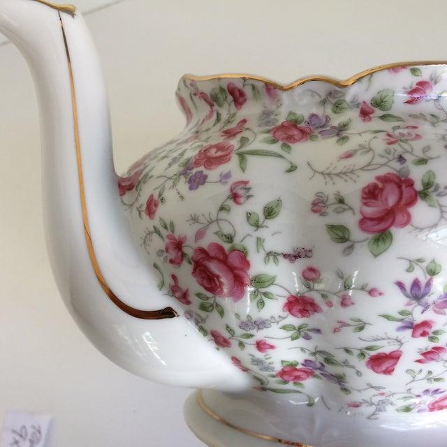 Vintage Rose Chintz Musical Tea Pot by Lefton For Sale - Image 10 of 13
