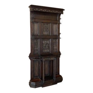 French Gothic Revival Hall Tree Dated 1829 For Sale