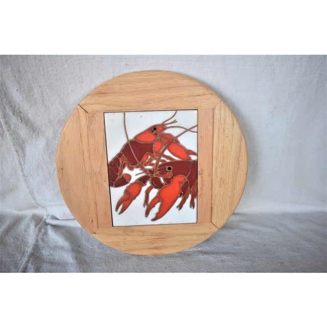 Figurative Vintage Lazy Susan Crawfish Serving Tray For Sale - Image 3 of 6