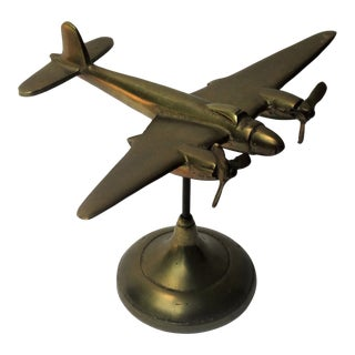 English Bristol Beaufighter Ww II Model Airplane Brass
