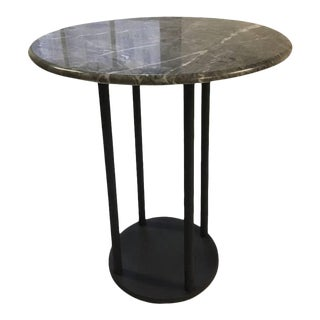 Contemporary Minimalist Blackened Steel and Marble Table by Scott Gordon For Sale