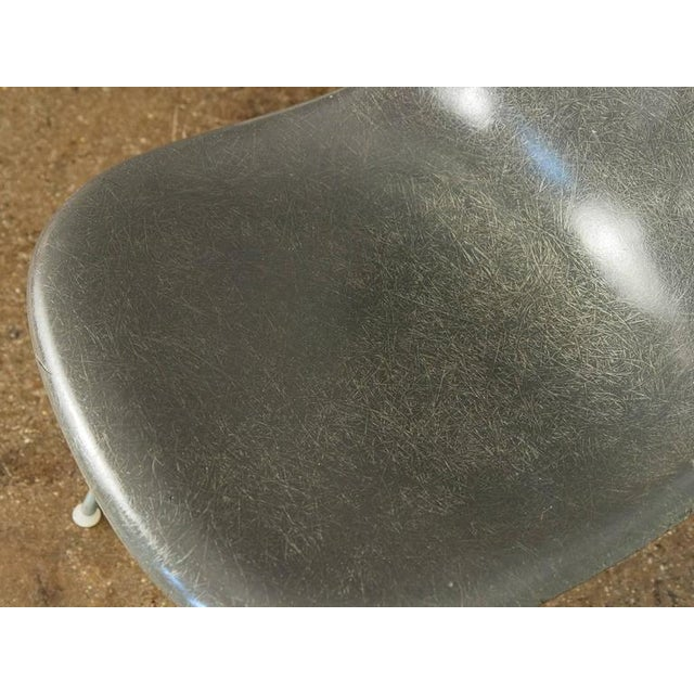 Metal Charles and Ray Eames for Herman Miller Gray Shell Chair For Sale - Image 7 of 7