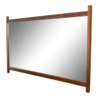 Huge Kipp Stewart for Calvin Walnut & Rosewood Mirror For Sale