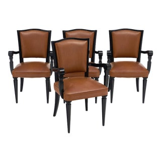 Art Deco Period French Bridge Chairs - Set of 4 For Sale