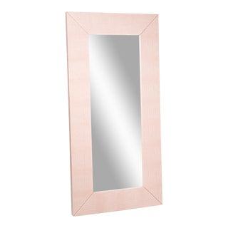 Blush Snakeskin Leather Mirror