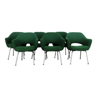Iconic Saarinen Green Executive Chairs by Knoll - Set of 6 For Sale
