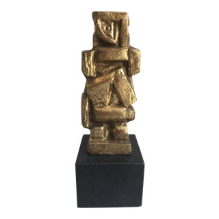 Bungalow 5 Gold Cubist Dancer Sculpture For Sale
