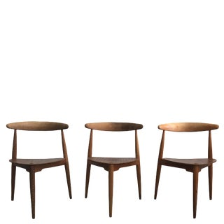 20th Century Hans Wegener for Fritz Hansen Chairs - Set of 3 For Sale