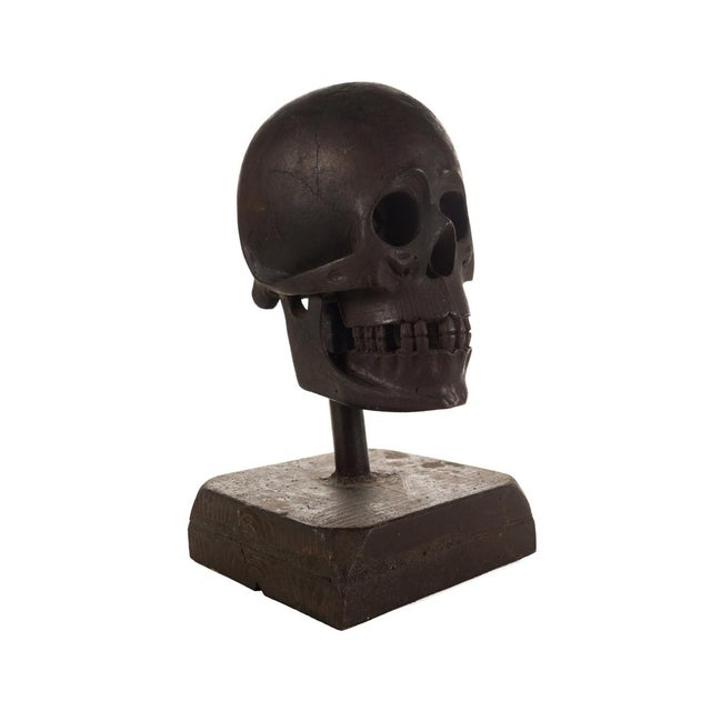 19th Century Hand Carved Wooden Skull - Image 5 of 9