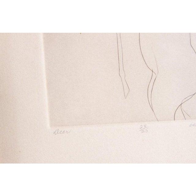 Etching of a Deer by Beth Van Hoesen (1926-2010) California For Sale - Image 10 of 13