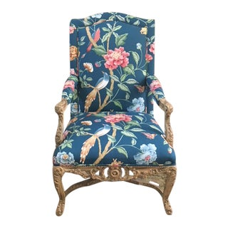 Bergere Accent Chair -- Indochine Upholstery For Sale
