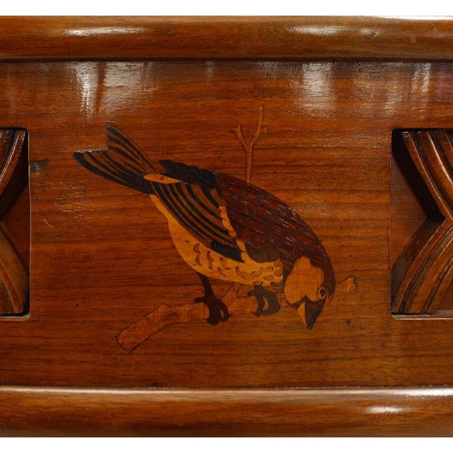 Art Deco 1930s Italian Art Deco Rosewood Console Table For Sale - Image 3 of 7