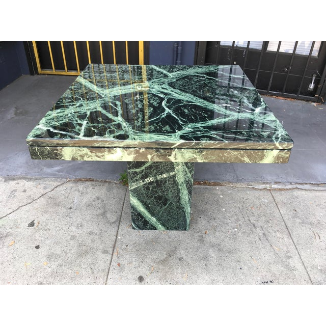 Absolutely stunning verde green Italian narble coffee table in rectangular shape. Made entirely of extremely high-quality...