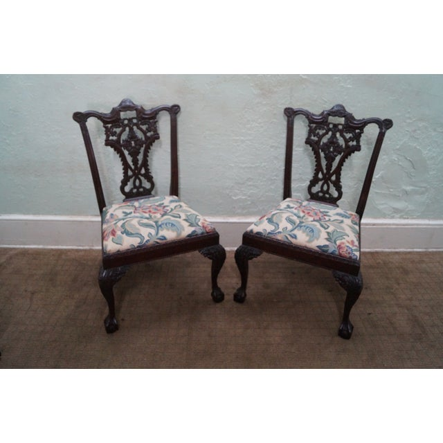 Honduras Mahogany Carved Dining Chairs - Set of 8 - Image 2 of 10