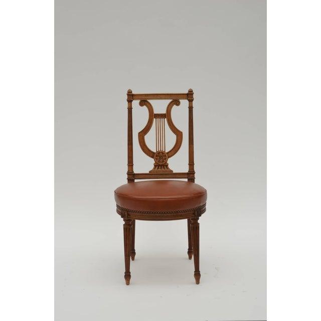Maison Jansen Elegant Neoclassical Side Chair by Maison Jansen For Sale - Image 4 of 7