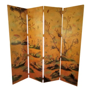 Mailtand Smith Tropical Four Panel Screen For Sale