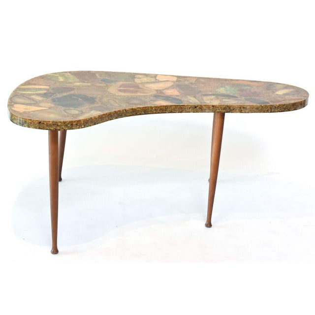 Italian Italian Modern Specimen Marble, Resin and Walnut Low Table, Aldo Tura For Sale - Image 3 of 10
