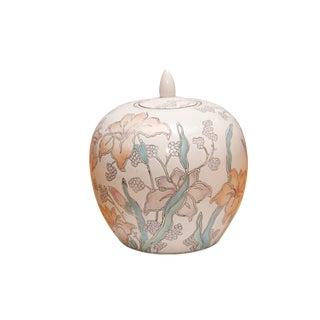 Ceramic Ginger Jar With Lid For Sale