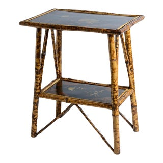 Antique Tortoise Shell Bamboo & Lacquer Side Table, C.1900, English For Sale