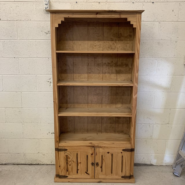 Mexican Unfinished Pine Bookshelf For Sale - Image 13 of 13