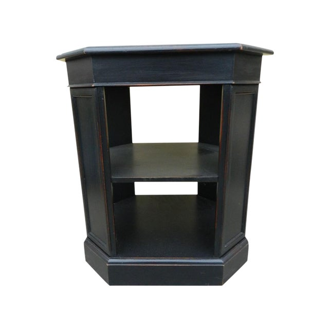 Leather Top End Table Bookcase - Image 1 of 5