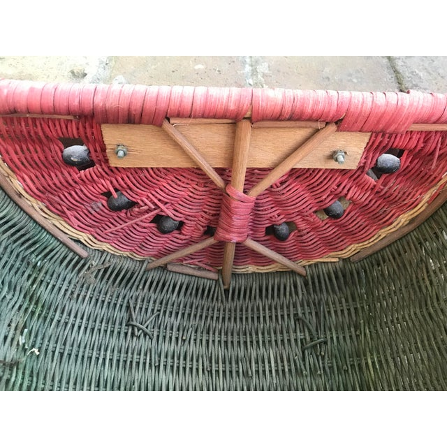 Country Watermelon Picnic Basket For Sale - Image 11 of 13