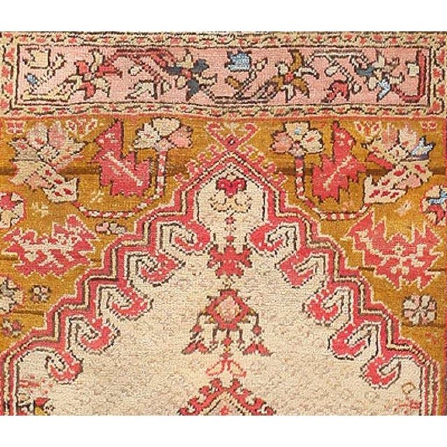 Islamic Antique Turkish Ghiordes Rug For Sale - Image 3 of 7