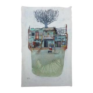 """Lone Star"" Original Watercolor Painting For Sale"
