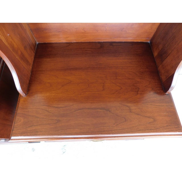 Henkel Harris Chippendale Style Cherry Nightstands - a Pair For Sale In Philadelphia - Image 6 of 11