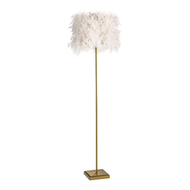 Jasmine Floor Lamp in White For Sale