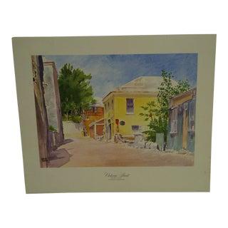 "1940s Mint Original Painting on Paper, ""Victoria Street - Hamilton"" Adolph Treidler"