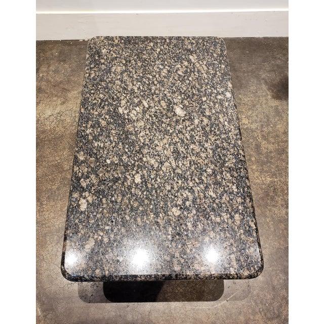 1980s Rectangular Italian Granite Coffee Table For Sale In Dallas - Image 6 of 10