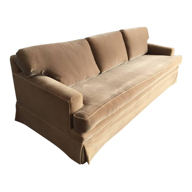 Extra-Long Classic JMF Style Mohair Sofa For Sale